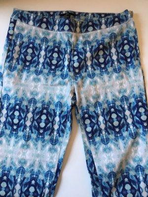 H&M 7/8 Knöchelhose blau Türkis Muster