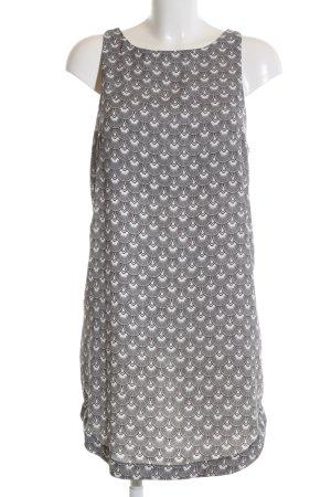 H&M A-Linien Kleid schwarz-weiß abstraktes Muster Business-Look