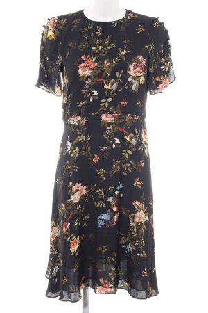 H&M A-Linien Kleid schwarz Allover-Druck Elegant