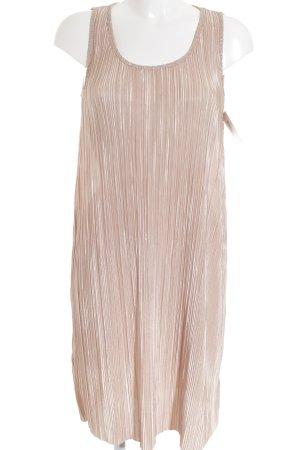 H&M A-Linien Kleid beige Glanz-Optik