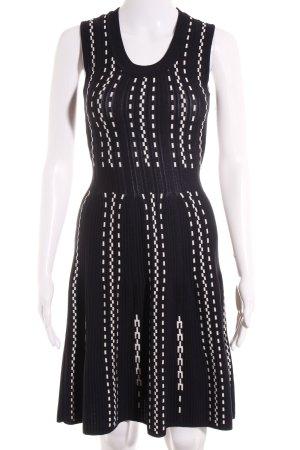 H&M A-Linien Kleid dunkelblau-weiß abstraktes Muster Casual-Look