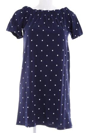 H&M A-Linien Kleid dunkelblau-weiß Punktemuster Paris-Look