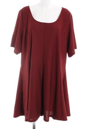 H&M A-Linien Kleid dunkelrot Casual-Look