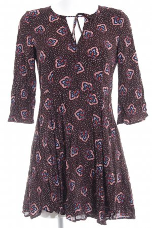 H&M A-Linien Kleid florales Muster Boho-Look