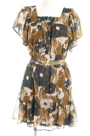 H&M A-Linien Kleid florales Muster extravaganter Stil