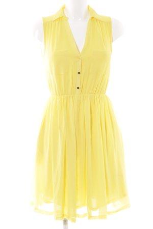 H&M A-Linien Kleid gelb-goldfarben Casual-Look
