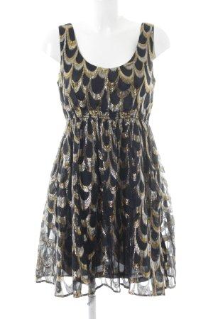 H&M A-Linien Kleid Ornamentenmuster Schimmer-Optik