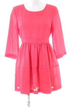 H&M A-Linien Kleid pink Allover-Druck Elegant