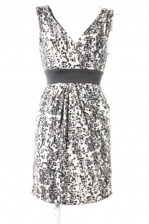 H&M A Line Dress black-cream abstract pattern business style