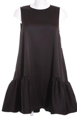 H&M A-Linien Kleid schwarz Elegant