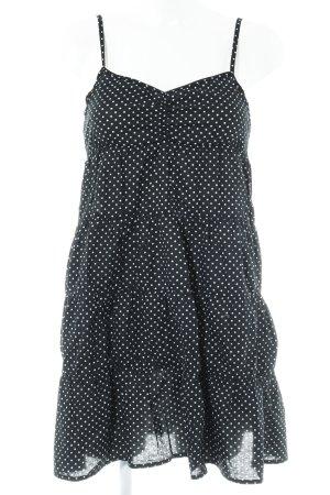 H&M A-Linien Kleid schwarz-weiß Punktemuster Casual-Look