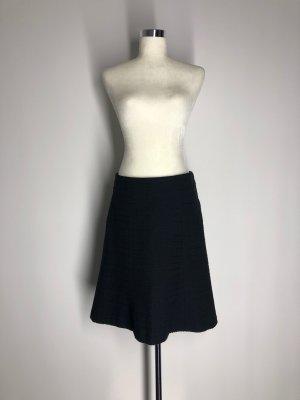 H&M Wool Skirt black cotton