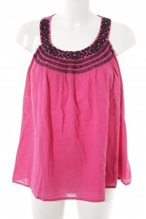 H&M A-lijn top magenta-zwart Beach-look