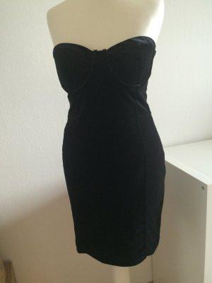 H&M Abendkleid Bustier Corsage schwarz 38 M NEU Samt Weihnachten Silvester