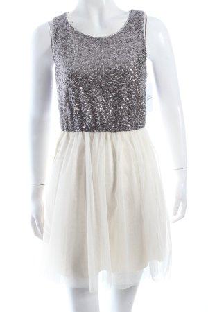 H&M Abendkleid creme-silberfarben Paillettenverzierung