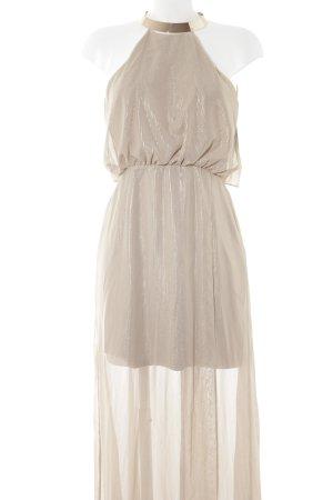 H&M Abendkleid goldfarben-beige Streifenmuster Elegant