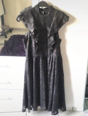 H&M Abendkleid Partykleid Volants schwarz 38/40 M/L