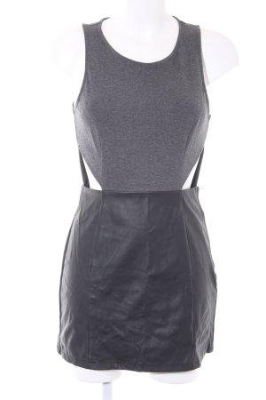 H&M Abendkleid schwarz-dunkelgrau 90ies-Stil