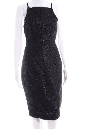 H&M Abendkleid schwarz-silberfarben Casual-Look
