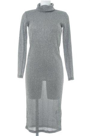 H&M Abendkleid schwarz-silberfarben Party-Look