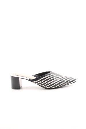 H&M Zomerschoenen met hak zwart-wit grafisch patroon klassieke stijl
