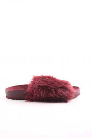H&M Heel Pantolettes bordeaux extravagant style