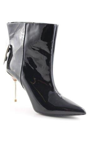 H&M Absatz Stiefel schwarz Elegant