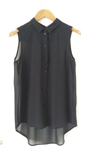 H&M ärmellöse Bluse schwarz Gr. 34
