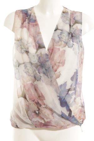 H&M ärmellose Bluse Blumenmuster Casual-Look