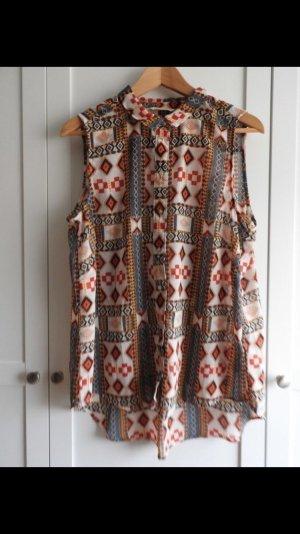 H&M, ärmellose Bluse, Bluse mit Aztekenmuster