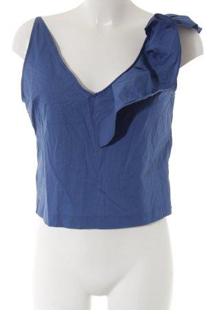 H&M ärmellose Bluse dunkelblau Beach-Look