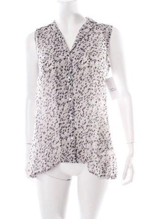 H&M ärmellose Bluse Farbtupfermuster Transparenz-Optik