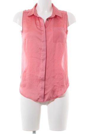 H&M ärmellose Bluse hellrot Elegant