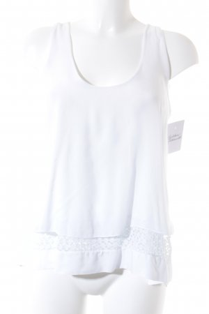 H&M ärmellose Bluse himmelblau-wollweiß klassischer Stil