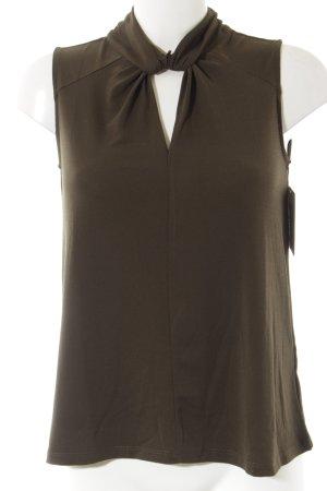H&M ärmellose Bluse khaki Casual-Look