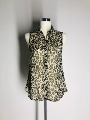 H&M ärmellose Bluse mit Leoparden-Print