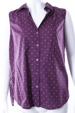 H&M ärmellose Bluse mit Punkten