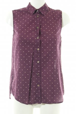 H&M ärmellose Bluse purpur-creme Punktemuster Casual-Look