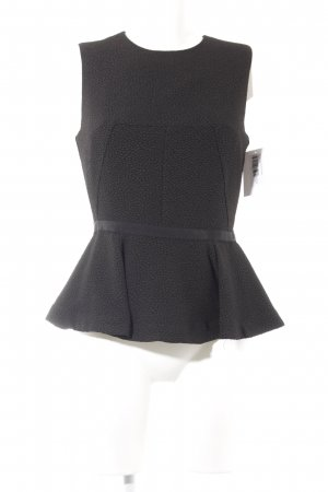 H&M Mouwloze blouse zwart casual uitstraling