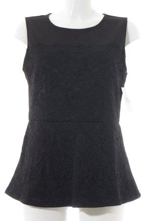 H&M ärmellose Bluse schwarz Romantik-Look