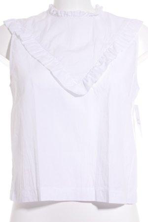H&M ärmellose Bluse weiß klassischer Stil