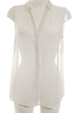 H&M ärmellose Bluse wollweiß-creme Business-Look
