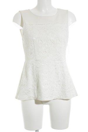 H&M ärmellose Bluse wollweiß Romantik-Look