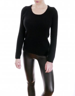 H&M Jersey de cuello redondo negro