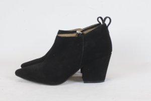 H&M Ankle Boots Gr. 40 Suede Wildleder (SC/E/18/3/105)