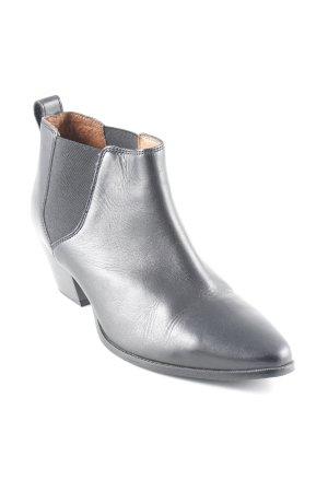 H&M Ankle Boots schwarz klassischer Stil