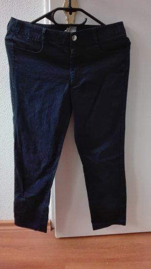 H&M Ankle Hose blau S 36 Caprihose High Waist