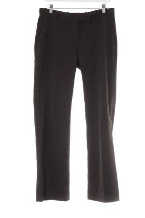 H&M Anzughose dunkelbraun Nadelstreifen Business-Look