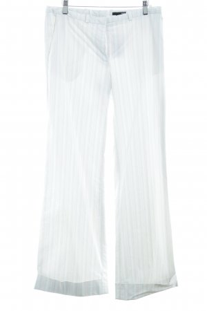 H&M Pantalon licht beige-abrikoos krijtstreep zakelijke stijl