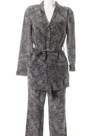 H&M Suit Trouser black-white abstract pattern casual look